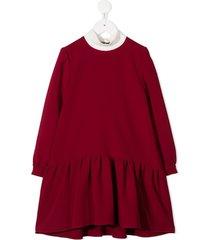 señorita lemoniez lavinia bow tie dress - red