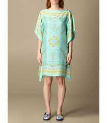 emilio pucci dress emilio pucci kaftan dress in printed silk