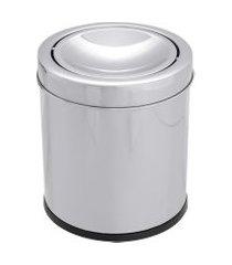 lixeira inox decorline basculante 3 litros - brinox