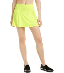 ideology flat-front solid skort, created for macy's