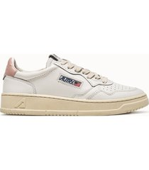 sneakers autry low colore bianco rosa
