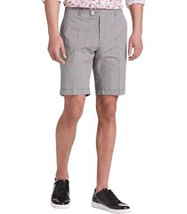 paisley & gray men's skinny fit suit separates shorts black and red gingham - size: 32