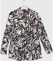 blusa ash animal print multicolor - calce regular