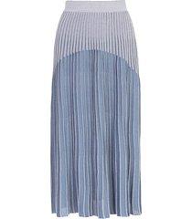 ribbed knit skirt blue