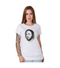 camiseta  kendrick lamar branco