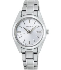seiko women's essentials stainless steel bracelet watch 29.8mm