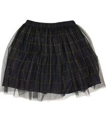 brunello cucinelli pleated windowpane tulle skirt