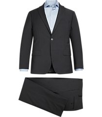 michael kors modern fit suit charcoal gray