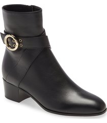 women's jimmy choo blanka buckle bootie, size 4.5us - black