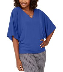 jm collection hardware batwing-sleeve tunic, created for macy's