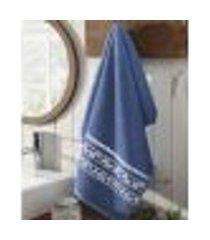 toalha de rosto jacquard premium fj5439 - azul marinho