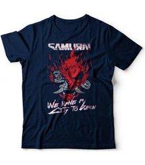 camiseta cyberpunk samurai - unissex