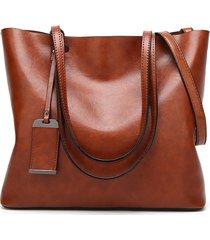 donna vintage tote bag in pelle vera borsa a mano borsa a spalla