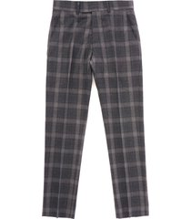 gibson tartan check trousers - charcoal g18215rdt