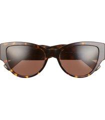 versace phantos 55mm cat eye sunglasses in havana/dark brown at nordstrom