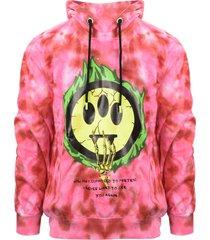 barrow tye-dye printed hoodie