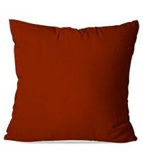 almofada avulsa lisa marrom 35x35cm love decor