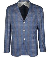 barba napoli light blue silk-cashmere blend gimmy blazer