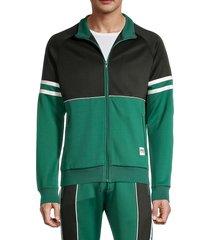 prps men's casco full-zip jacket - green - size xl