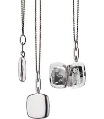 viv slim cushion locket steel necklace