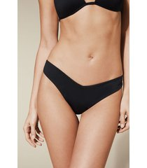 calzedonia indonesia high-leg brazilian bikini bottoms woman black size s/m