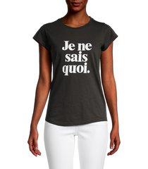 zadig & voltaire women's skinny je ne sais quoi t-shirt - white red - size xs
