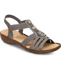 60800-14 shoes summer shoes flat sandals grå rieker