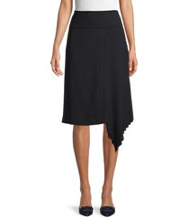 karl lagerfeld paris women's pleated asymmetrical skirt - black - size 2