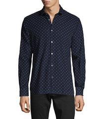 ross star-print cotton sport shirt