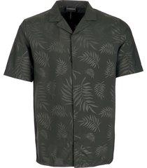 emporio armani floral print woven shirt - verde 3g1ca21nmcz