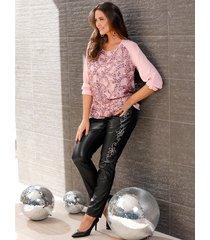 broek miamoda zwart::roze