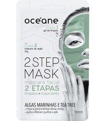 máscara facial 2 step tea tree 13g - océane único