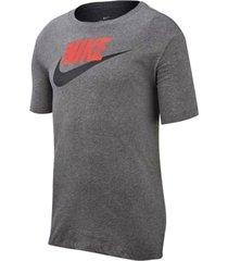 camiseta nike nsw tee icon futura - gris-gris-gris oscuro-gris oscuro