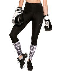 leggings negro-blanco asics highwaist tight