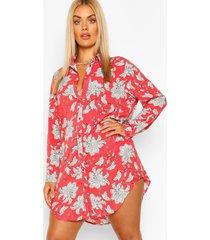 blousejurk met paisley-print, rood