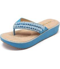 sandali della piattaforma bling con perline per le donne