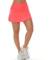 falda deportiva con licra interior,  color fucsia neon  para mujer