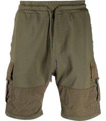 dondup two-tone cargo shorts - green