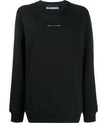 1017 alyx 9sm graphic-print crew neck sweatshirt - black