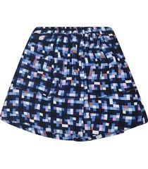 marni flared check skirt
