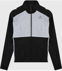 chaqueta negro-blanco adidas performance classics look