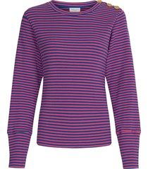 lilou pullover fan blue & pinata pink