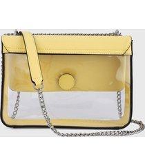 bolso amarillo-blanco guess