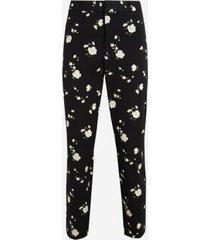 pantalón sloan floral negro banana republic