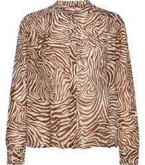 elmy shirt aop 9695 blouse lange mouwen multi/patroon samsøe samsøe