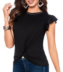 blusa angelik negro para mujer croydon