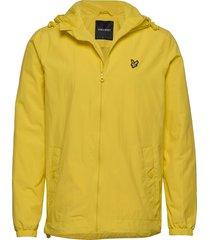 zip through hooded jacket dun jack geel lyle & scott