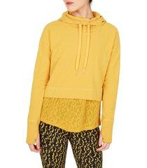 women's sweaty betty escape luxe crop hoodie