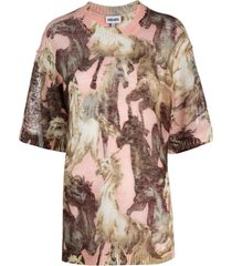 printed mohair mm round t-shirt