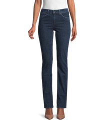 rag & bone women's cate mid-rise split-hem flare jeans - night blue - size 24 (0)